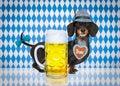 Bavarian beer dog Royalty Free Stock Photo