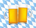 Bavarian beers background Royalty Free Stock Photo