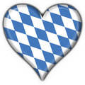 Bavarian button flag heart shape Stock Image