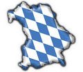 Bavarian button flag map shape Royalty Free Stock Image