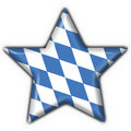 Bavarian button flag star shape Stock Image