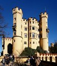 Bavarian castle hohenschwangau palace schloss hohenschwangau is the childhood residence of king ludwig ii of bavaria and was built Royalty Free Stock Photo