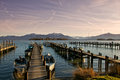 Bavarian chiemsee Obrazy Royalty Free