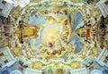 Bavarian church ceiling Royalty Free Stock Photos