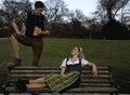 Bavarian Couple Royalty Free Stock Photo