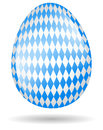 Bavarian easter egg isolated Stock Image