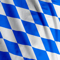 Bavarian Flag Closeup Stock Photo