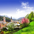 Bavarian landscapes beautiful alpen scenery berchtesgaden bavaria Royalty Free Stock Photos