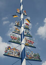 A Bavarian Maypole in Munich Stock Images