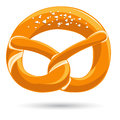 Bavarian pretzel with salt vector illustration Stock Photography