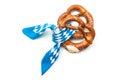 Bavarian pretzels appetizing isolated on white background Royalty Free Stock Image