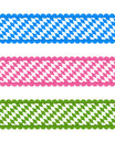 Bavarian ribbons detailed and accurate illustration of Stock Photo