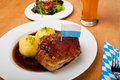 Bavarian roast pork dish Stock Image