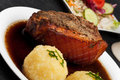 Bavarian roast pork dish Stock Photography