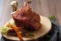 Bavarian roast pork knuckle Royalty Free Stock Photo