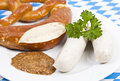 Bavarian sausages Royalty Free Stock Image