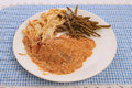 Bavarian Schnitzel Dinner Stock Photography