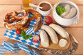 Bavarian veal sausage breakfast