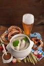 Bavarian veal sausage breakfast Royalty Free Stock Photo