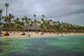 Bavaro beach in Punta Cana, Dominican Republic. Royalty Free Stock Photo