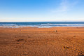 The Bay of Biscay near Bilbao, Spain in January Royalty Free Stock Photo
