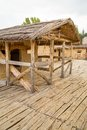 The bay of the bones macedonia reconstructed site a prehistoric settlement at lake ohrid republic Royalty Free Stock Photos