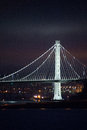 Bay Bridge illuminated at night, San Francisco, California Royalty Free Stock Photo