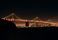 Bay bridge at night Stock Image