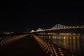 The Bay Bridge by night, San Francisco Royalty Free Stock Photo