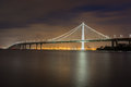Bay Bridge`s Eastern Span Replacement at Night Royalty Free Stock Photo