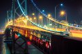 Bay bridge san francisco perspective at night california Stock Image