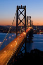 Bay Bridge, San Francisco at sunset Stock Photos