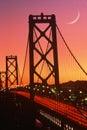 Bay Bridge at sunset, San Francisco, CA Royalty Free Stock Photo