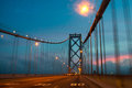Bay bridge suspension at dusk san francisco san francisco california usa Royalty Free Stock Photography
