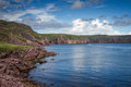 Bay de verde view on the cove opposite newfoundland Stock Image