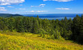 Bay of Fundy panorama Royalty Free Stock Photo