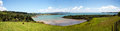 Bay of islands panorama near paihia panoramic view the wairoa new zealand Stock Image