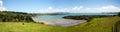 Bay of islands panorama near paihia panoramic view the wairoa new zealand Stock Image