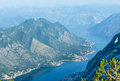 Bay of Kotor summer misty view(Montenegro) Royalty Free Stock Photos