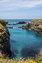 The bay in mendocino california a along coast Royalty Free Stock Photography