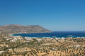 The bay of pigadia on the greek island karpathos Stock Photos