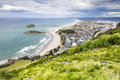 Bay Of Plenty view from Mount Maunganui Royalty Free Stock Photo