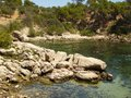 Bay of sa dragonera mallorca a at the island near to spain europe Stock Photography