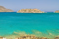 Bay with Spinalonga island on Crete Stock Photos