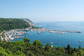 Bay with tourist resort in gulf of trieste near town sistiana italy eu Stock Photography