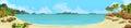 Bay, tropical beach
