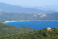 The bay of valinco on the island of corsica france Royalty Free Stock Photography