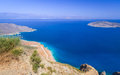 Bay view blue lagoon crete greece Stock Photo