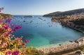Bay of Villefranche Sur Mer and Cap Ferrat, Cote d'Azur, France Royalty Free Stock Photo