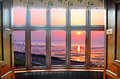 Bay window sunset Stock Photo